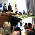 Drugs party raided at a private poolside venue in Pattaya as the city's bars and venues are deserted