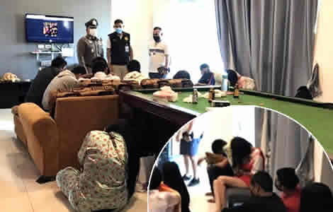 drugs-party-raid-private-poolside-venue-pattaya-city-bars-venues-deserted