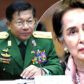 Military coup in Myanmar. Aung San Suu Kyi held with scores of leading political figures arrested by troops