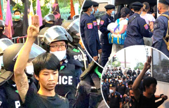 70 arrested near Government House in Bangkok as police move clears protest site in place for 2 weeks