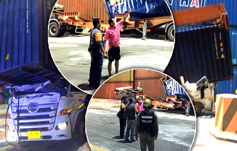 death truck-driver-sri-racha-port-crushed-32-ton-container