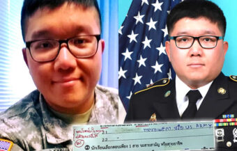 Former Thai US army sergeant tells schoolboy he can join the US army and follow his dream job
