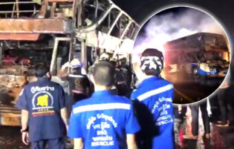 6 year old among 5 people burned to death in overnight bus tragedy on Tuesday morning in Khon Kaen