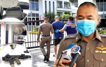 Police defend Pattaya search warrant raid which saw two officers shot with Chinese man arrested and charged
