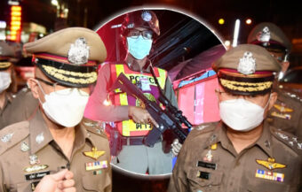 Police chief orders officers to oversee and boost morale on Bangkok's nightly curfew checkpoints
